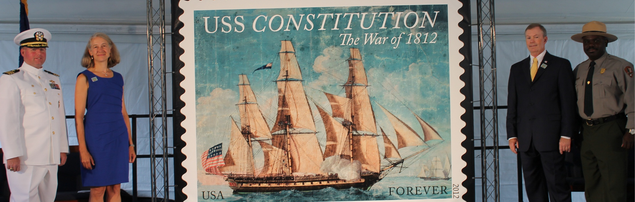 USS Constitution Stamp